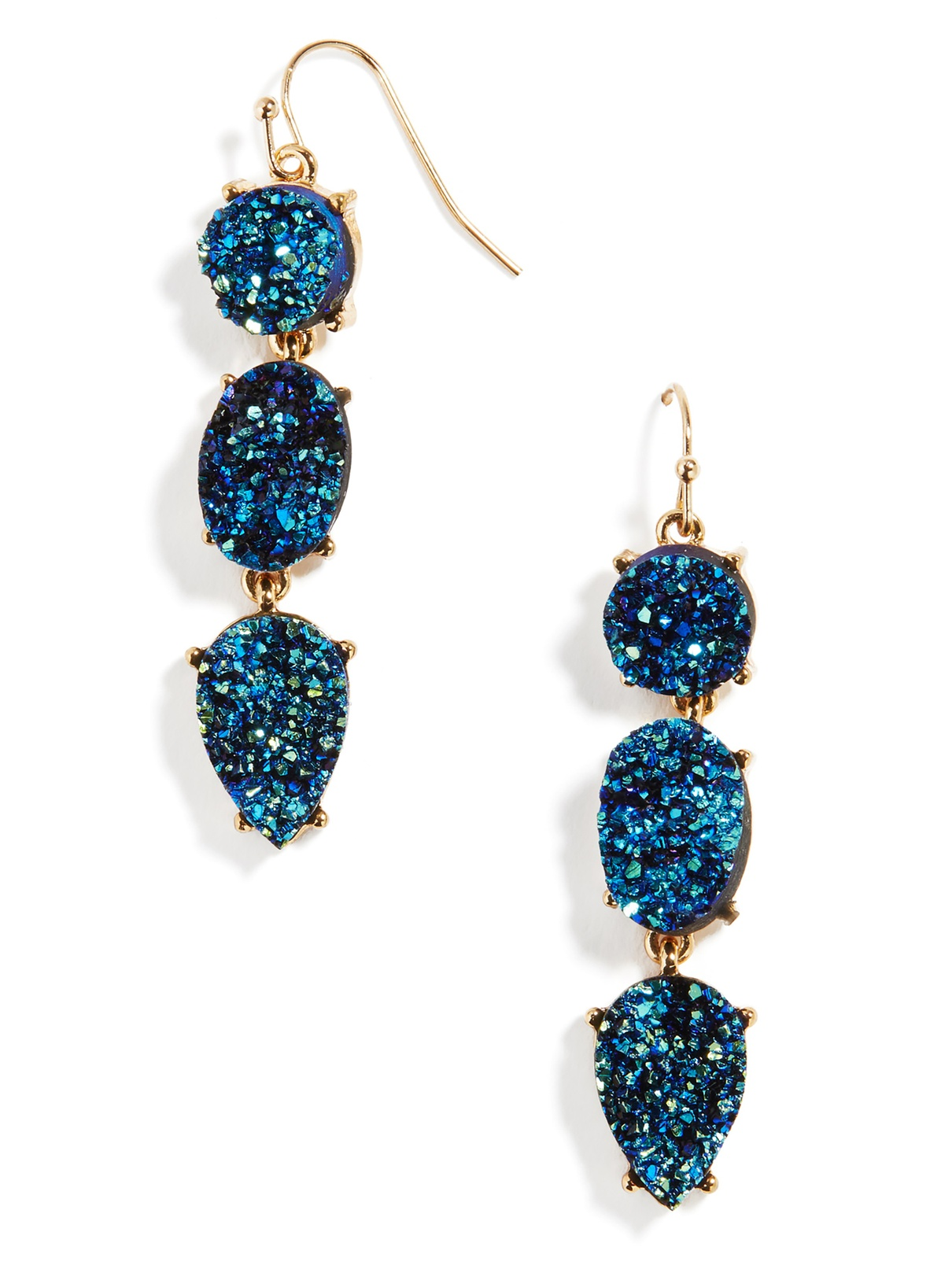 Love these metallic druzy drops