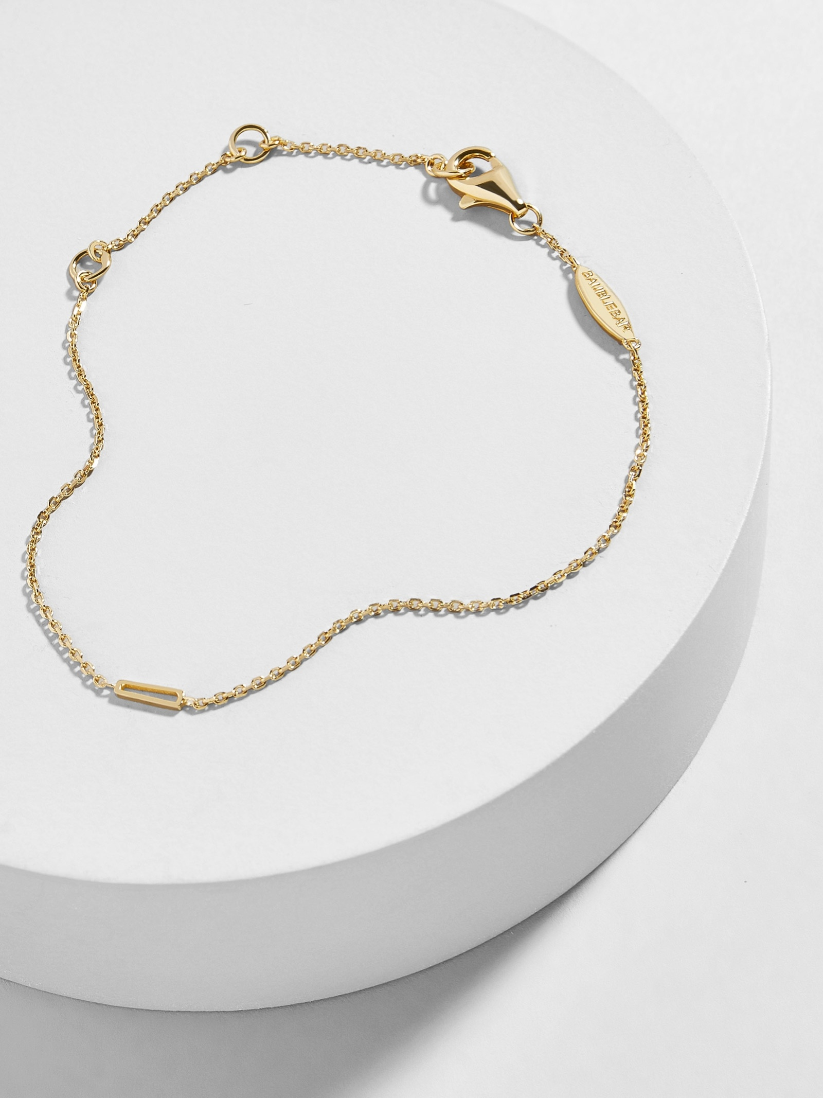 Quadro 18 K Gold Plated Bracelet by Baublebar