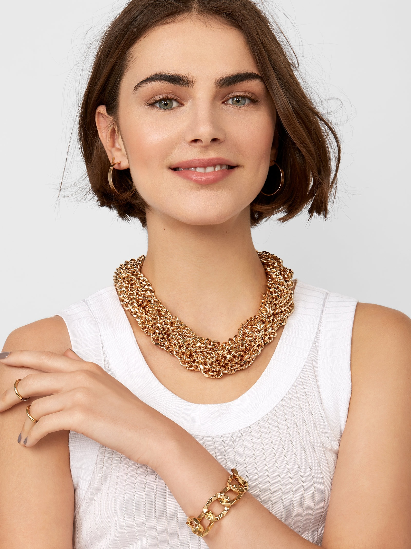Cadeau Linked Statement Necklace by Baublebar