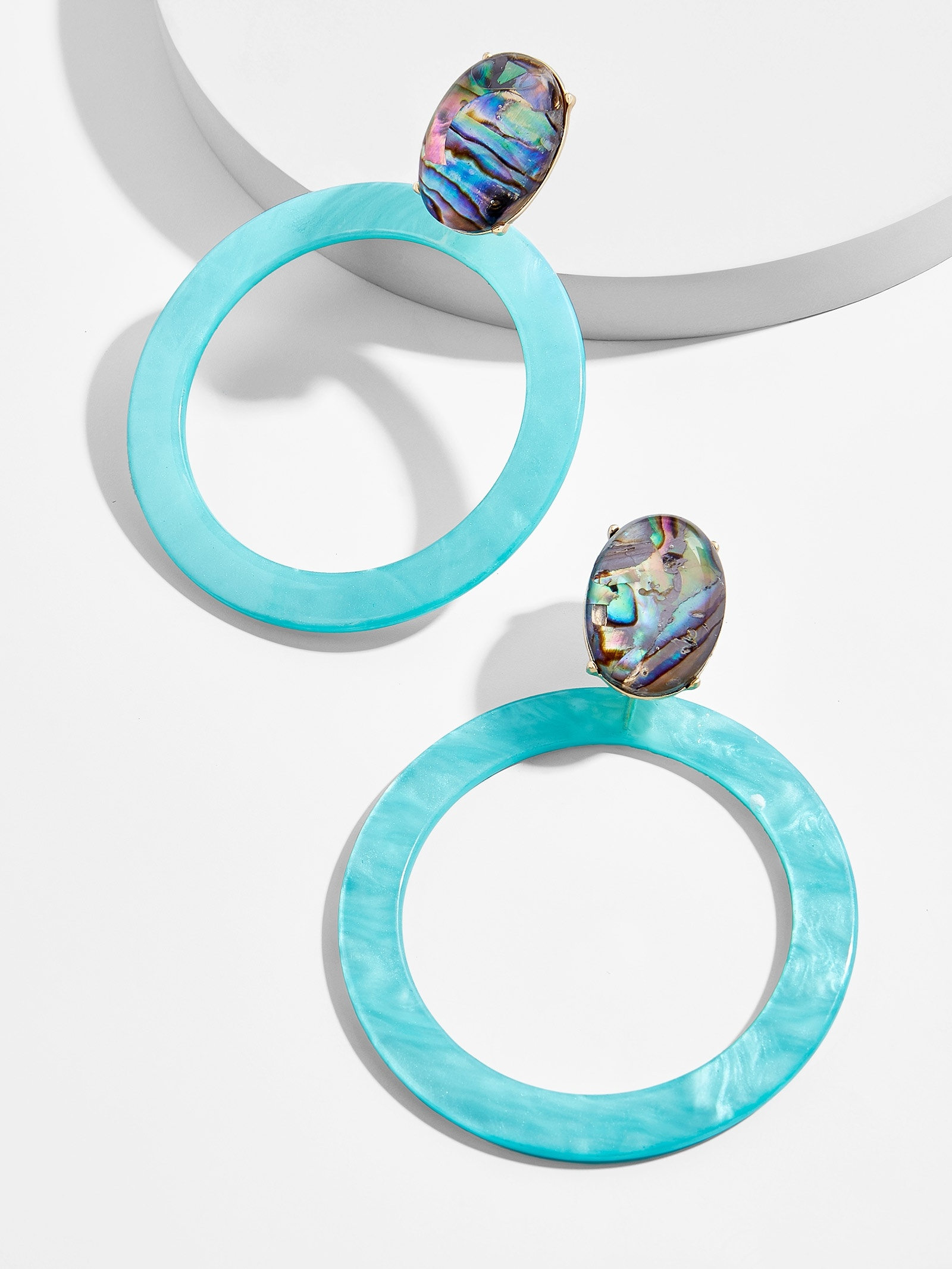 Terisia Resin Hoop Earrings by Baublebar