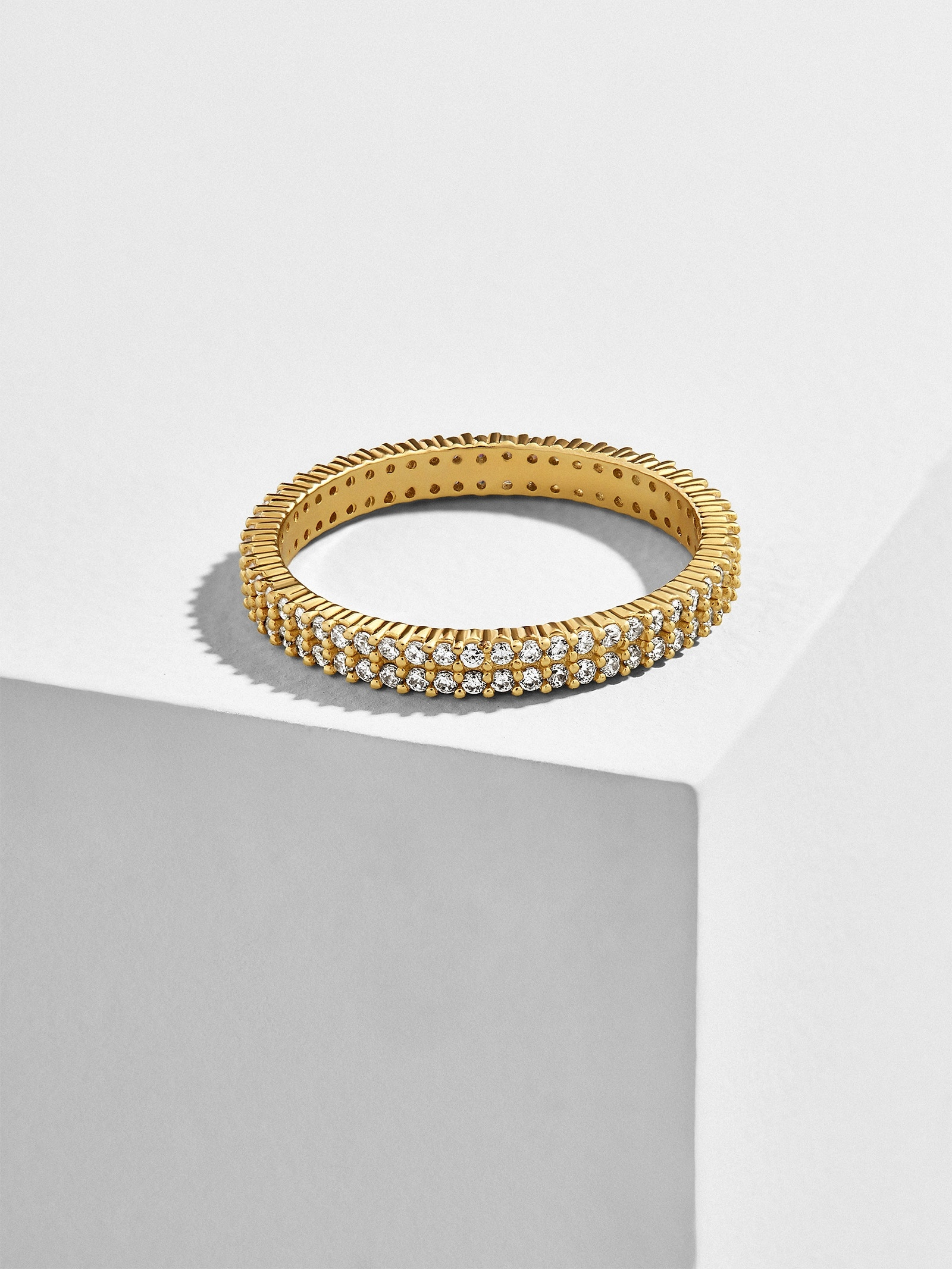 Alveo 18 K Gold Plated Stacking Ring by Baublebar