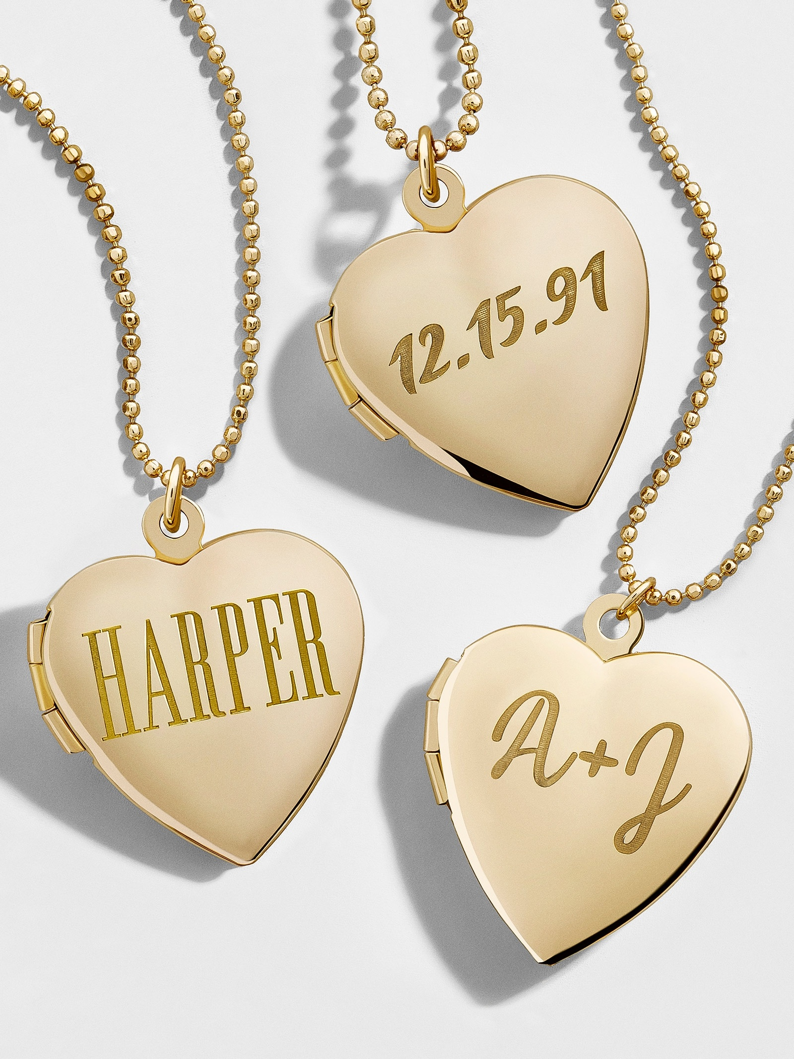 Engravable Locket Pendant Necklace by Baublebar