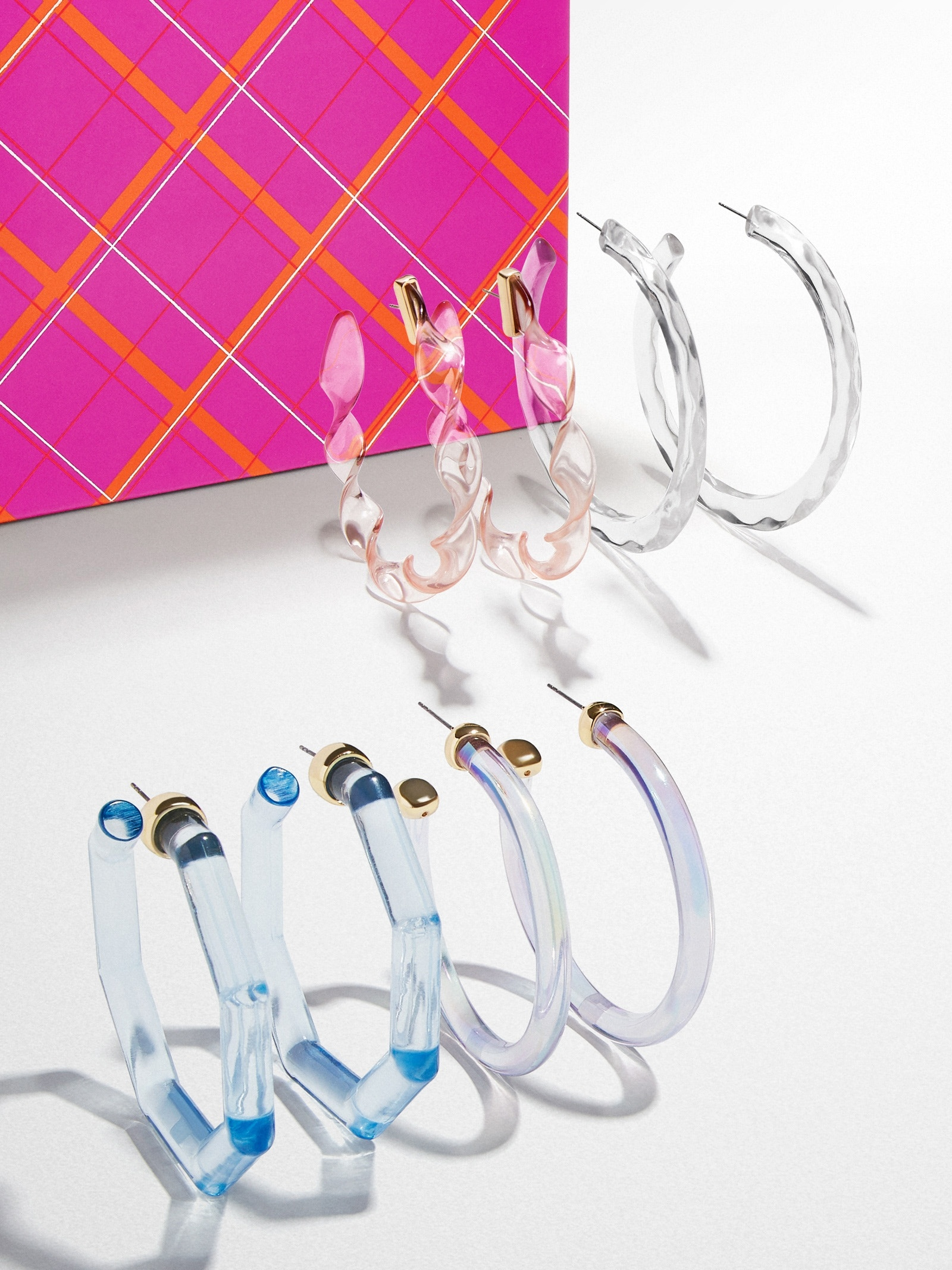 Cotton Candy Sky Lucite Hoop Set by Baublebar