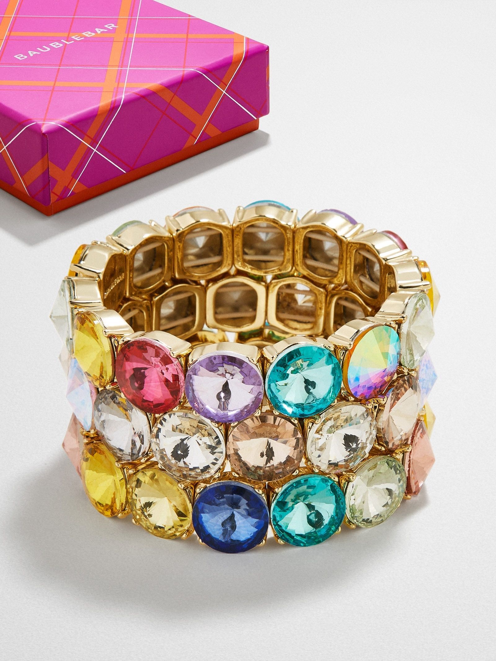 Stack 'em Up Gem Bracelet Trio by Baublebar