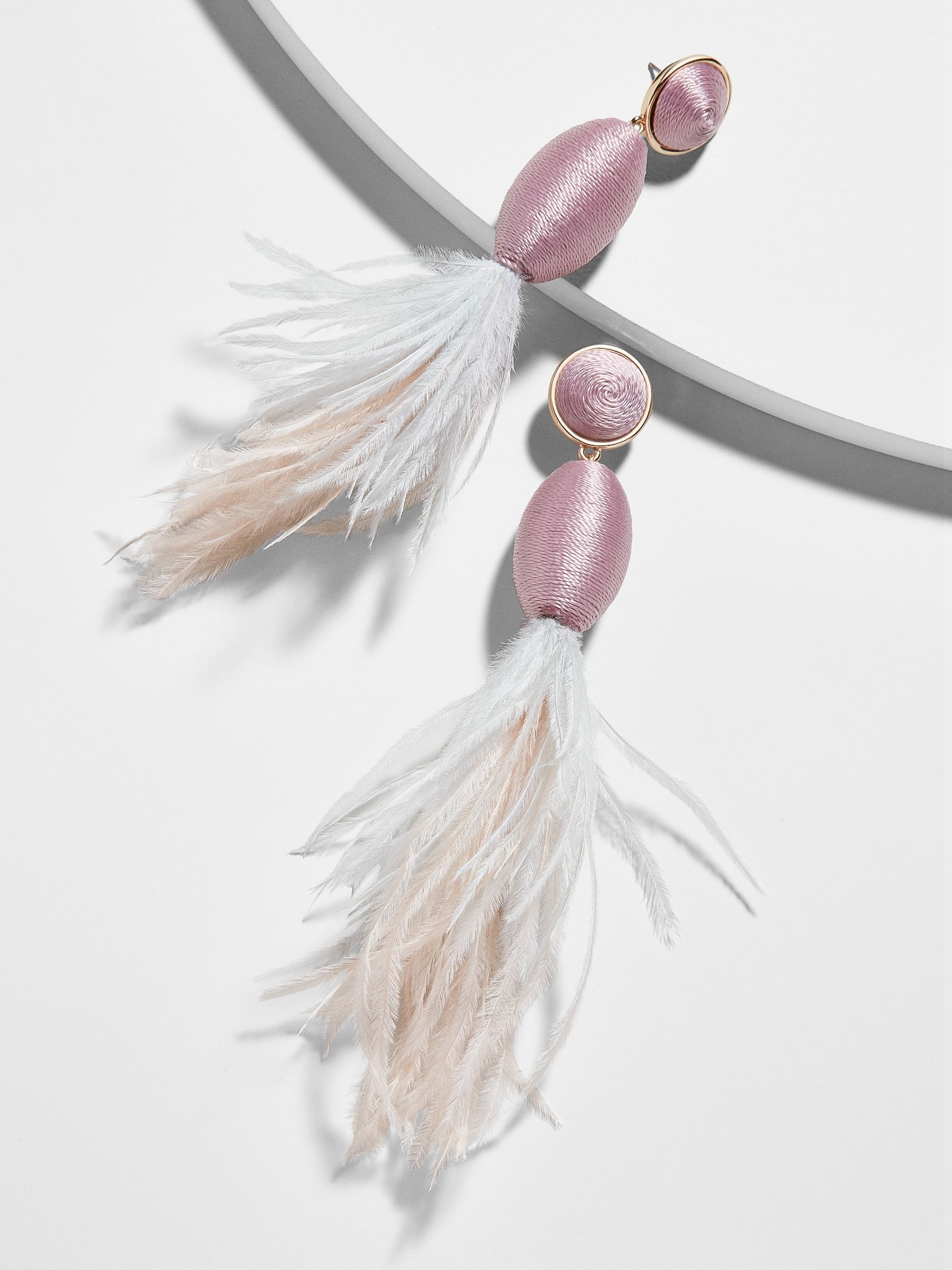 Fianna Feather Drop Earrings by Baublebar