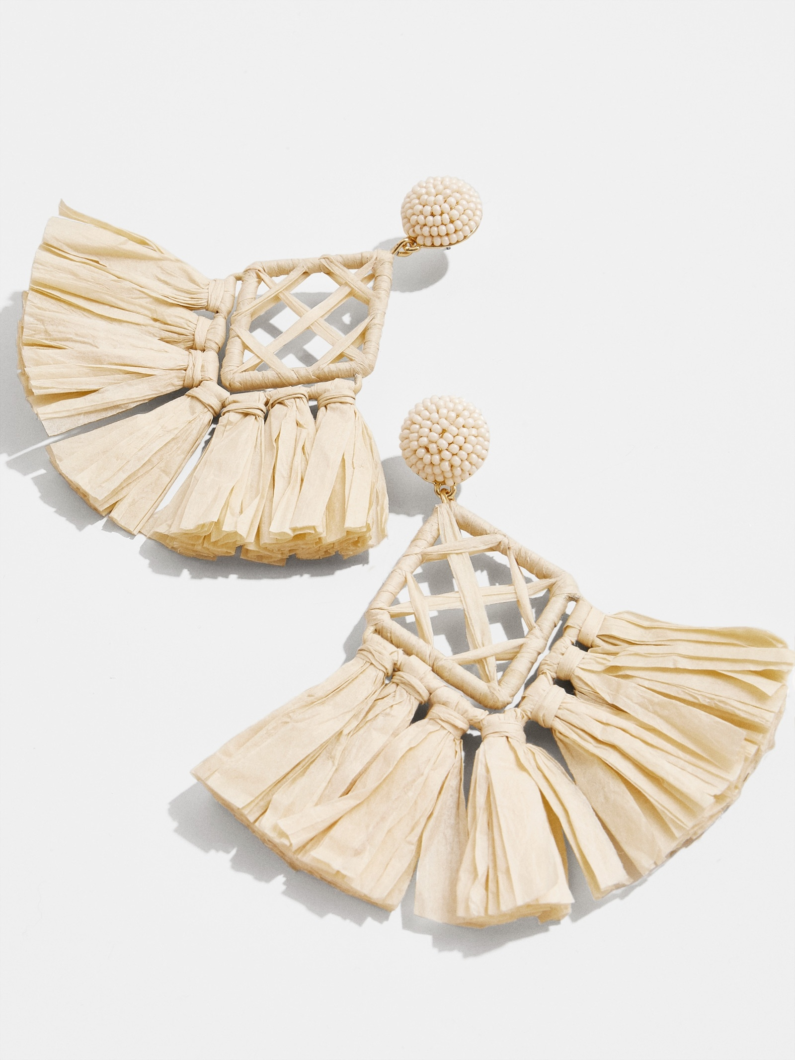 Sahari Raffia Drop Earrings by Baublebar