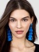 Thumbnail #1 for Gabriela Stud Tassel Earrings
