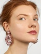 Thumbnail #1 for Floretta Sequin Hoop Earrings
