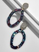 Tristana Hoop Resin Earrings
