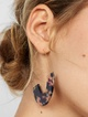 Thumbnail #2 for Faidra Resin Drop Earrings-Navy