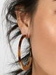 Thumbnail #1 for Tassiana Resin Hoop Earrings