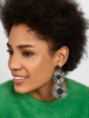 Thumbnail #1 for Large Mariette Fringe Drop Earrings-Metallic Silver