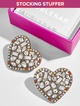 Aubry Heart Stud Earrings