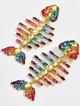Rainbow Fish Drop Earrings