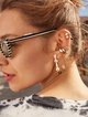 Thumbnail #2 for Charilette 18K Gold Vermeil Safety Pin Earrings