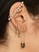 Thumbnail #1 for Charmian 18K Gold Vermeil Safety Pin Earrings
