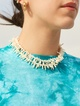Thumbnail #1 for Sliver Pearl Collar Necklace