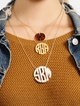 Thumbnail #1 for Acrylic Block Monogram Necklace